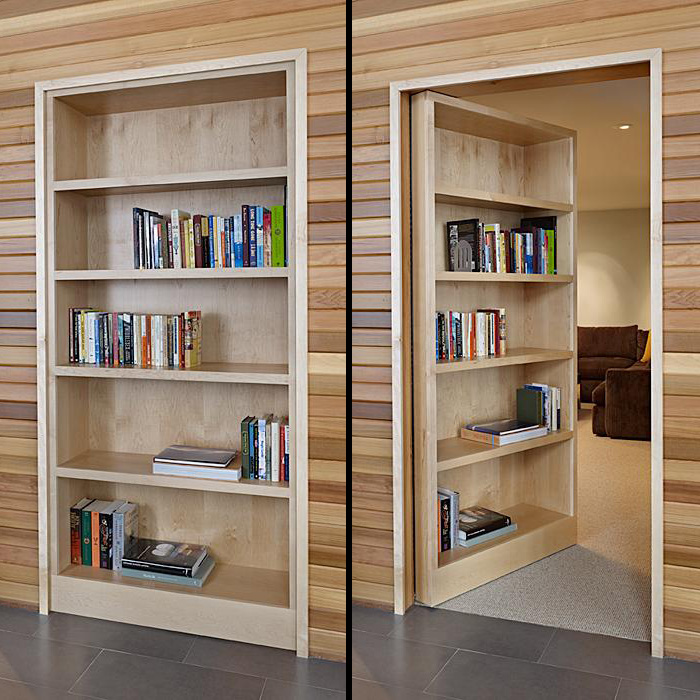 DIY Secret Room Hidden Bookcase Door queen size loft bed plans Plans
